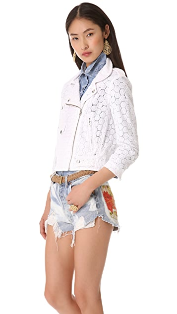 Rebecca Minkoff Eyelet Wes Moto Jacket
