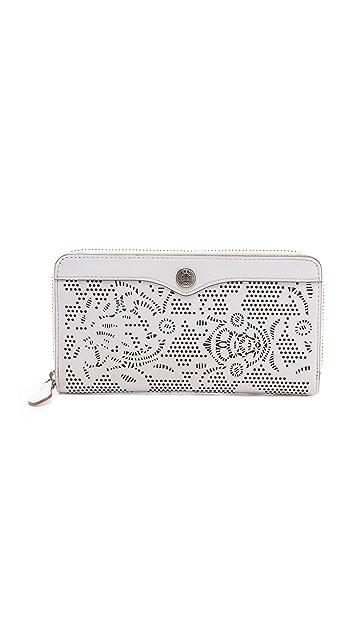 Rebecca Minkoff Laser Cut Zip Wallet