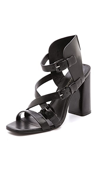 Rebecca Minkoff Pip Nickel Sandals