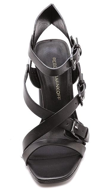 Rebecca Minkoff Pip Nickel Sandals