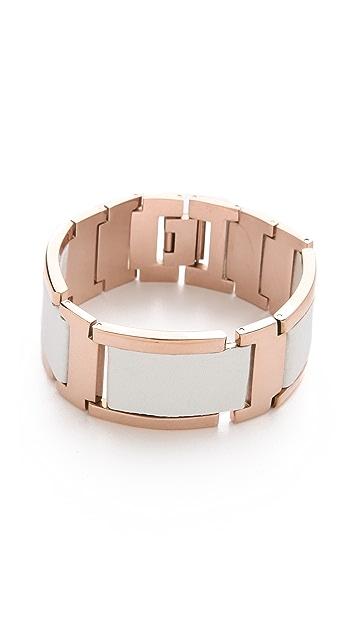 Rebecca Minkoff Leather & Metal Bracelet