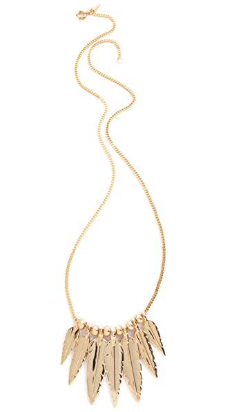 Rebecca Minkoff Multi Feather Necklace
