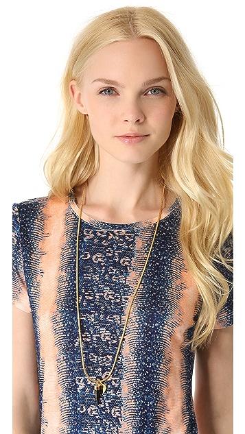 Rebecca Minkoff Heart & Horn Long Necklace