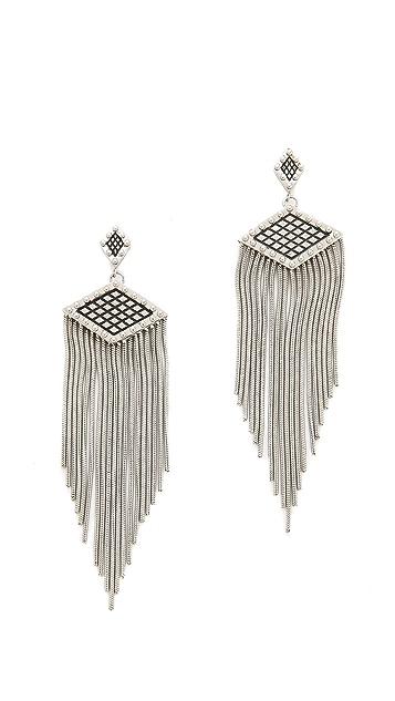 Rebecca Minkoff Crosshatch Fringe Earrings