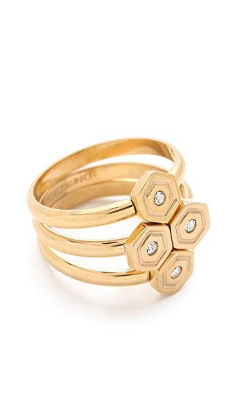 Rebecca Minkoff Hexagon Stackable Rings