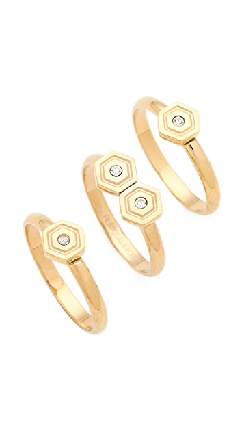 Rebecca Minkoff Hexagon Stackable Rings