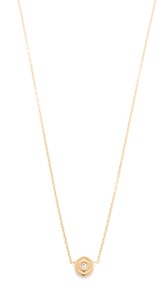 Rebecca Minkoff Hexagon Solitaire Necklace