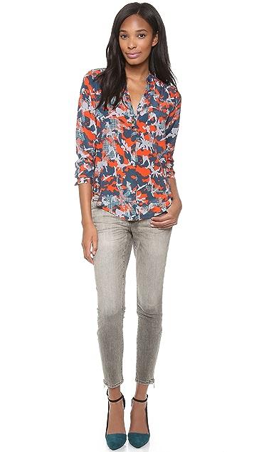 Rebecca Minkoff Stardust Print Ruffle Shirt