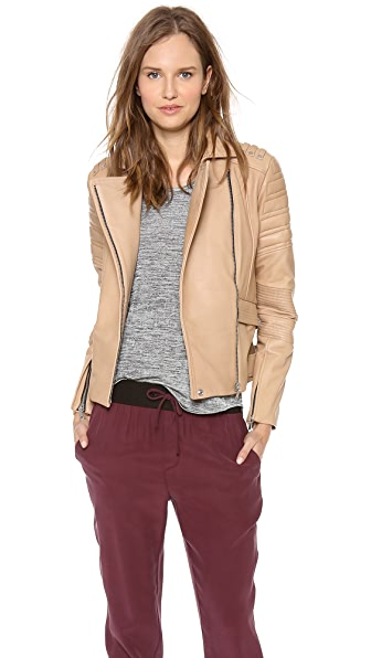 Rebecca Minkoff Saturn Bonded Leather Jacket