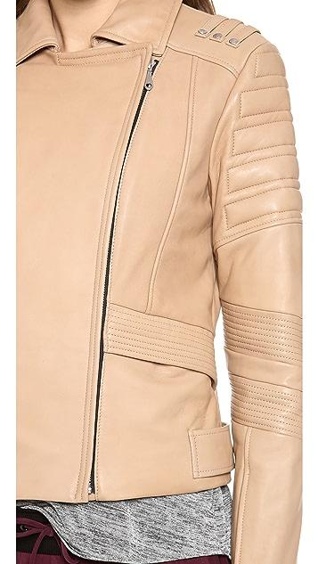 Rebecca Minkoff Saturn Bonded Leather Jacket