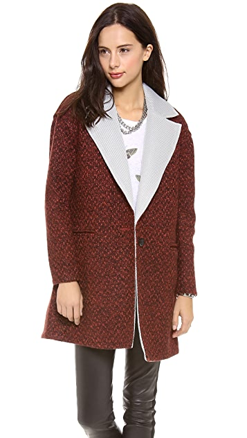 Rebecca Minkoff Shuttle Tweed Coat