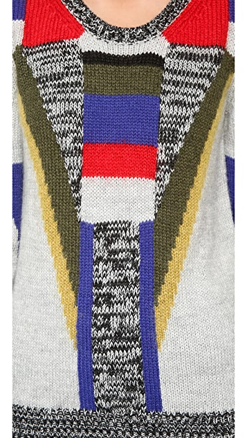 Rebecca Minkoff Graphic Fitted Pullover