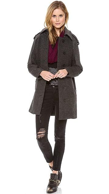 Rebecca Minkoff Jude Houndstooth Coat