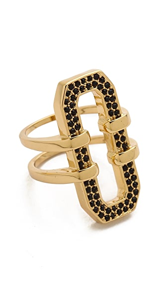 Rebecca Minkoff Pave Link Ring