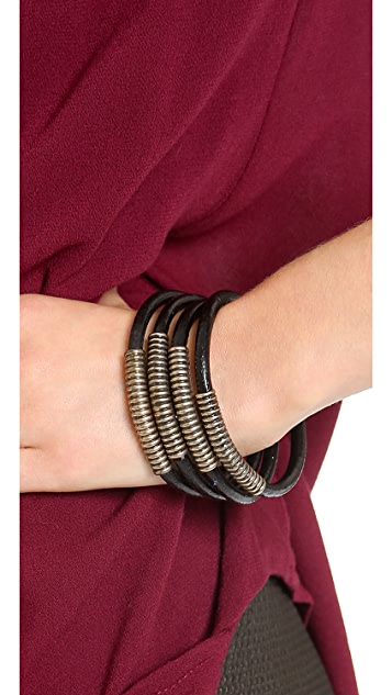 Rebecca Minkoff Leather Cord Bangle Set