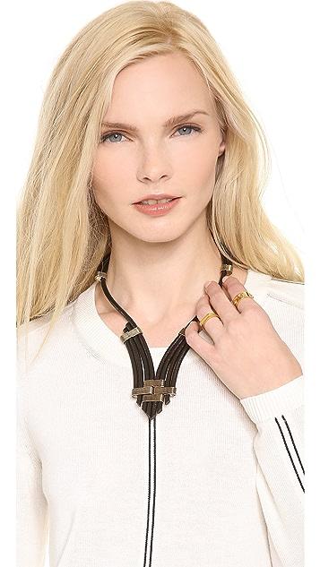 Rebecca Minkoff Leather Cord Necklace