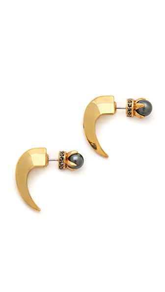 Rebecca Minkoff Curbs Front Back Stud Earrings