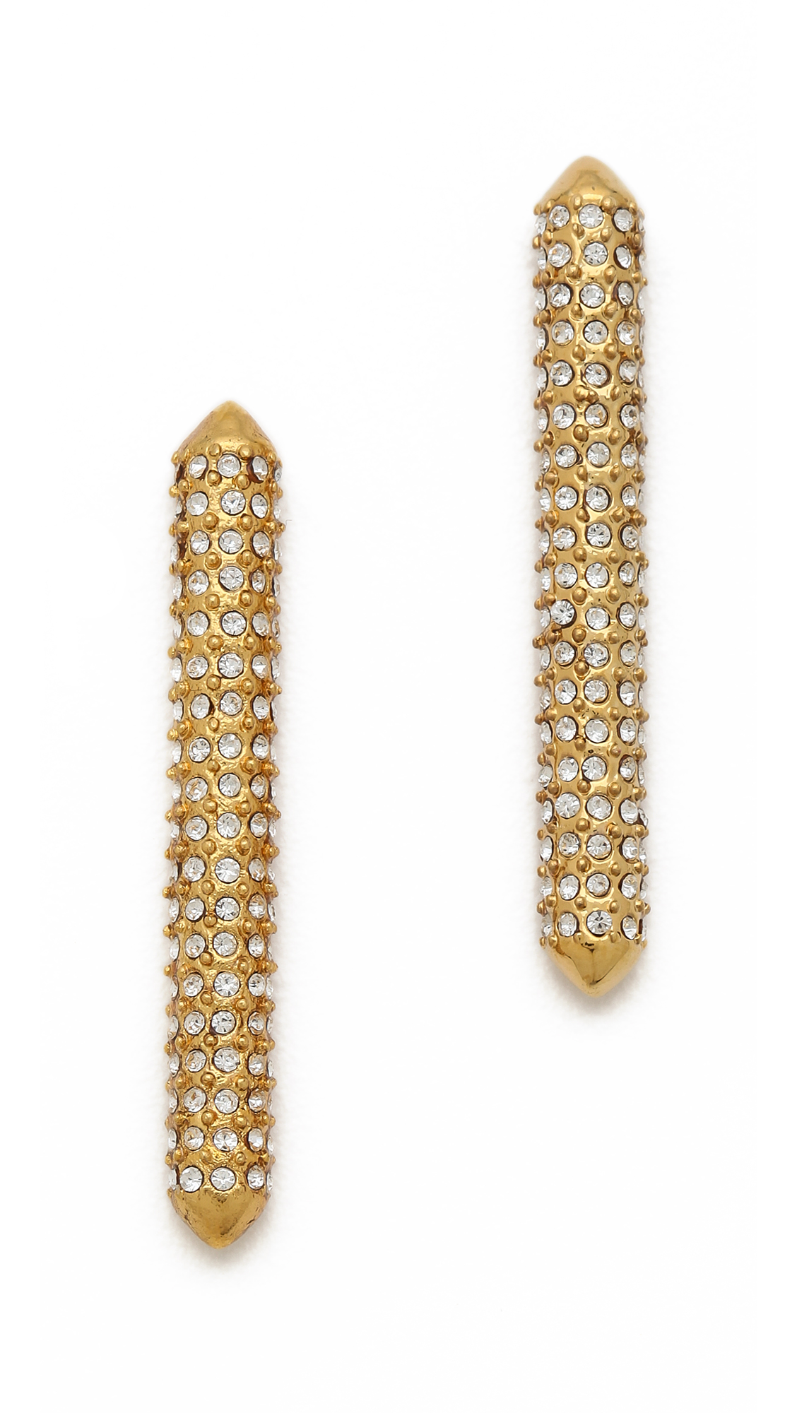 earrings yellow long reflection szor studs ez gold collections stud erich cocoon products matte zimmermann