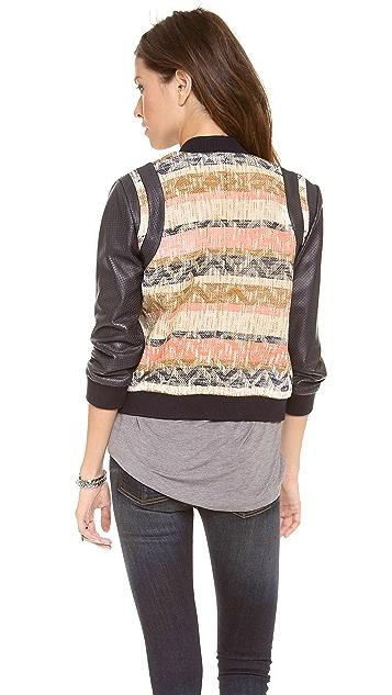 Rebecca Minkoff Smith Tweed Bomber Jacket