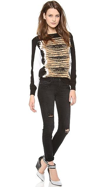 Rebecca Minkoff Tiger Curved Yoke Pullover