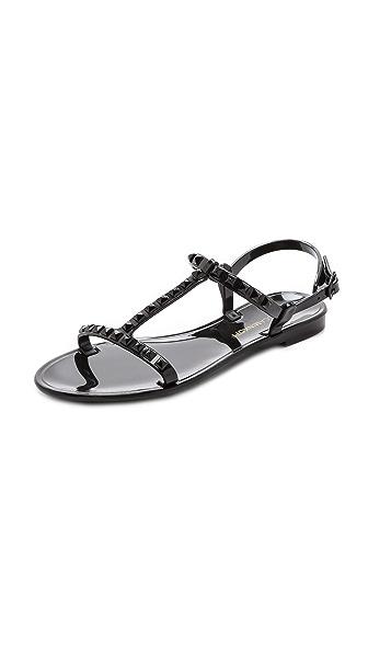 Rebecca Minkoff Sava Studded T Strap Jelly Sandals