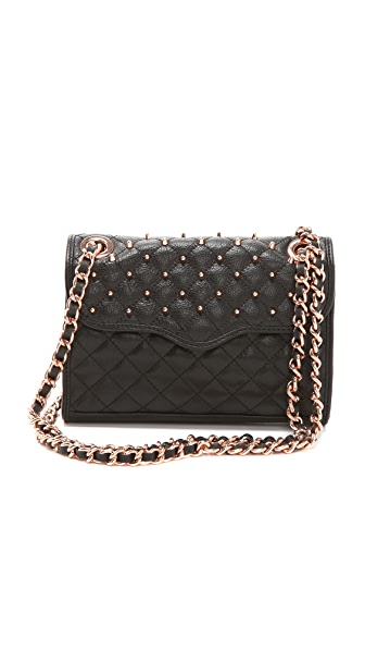 Rebecca Minkoff Studded Mini Affair Rose Gold Hardware