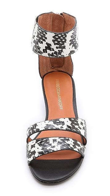 Rebecca Minkoff Lore Demi Wedge Sandals