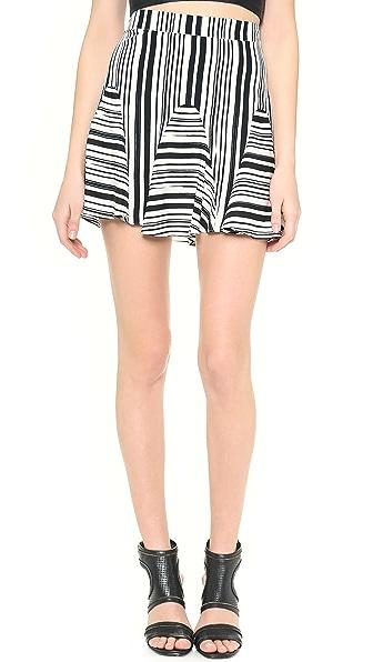 Rebecca Minkoff Tulum Striped Skirt