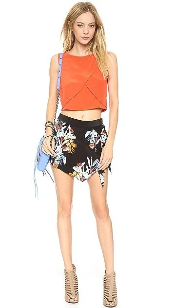 Rebecca Minkoff Wrap Pineapple Shorts