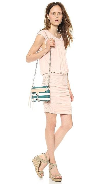 Rebecca Minkoff Striped Canvas Mini MAC Bag