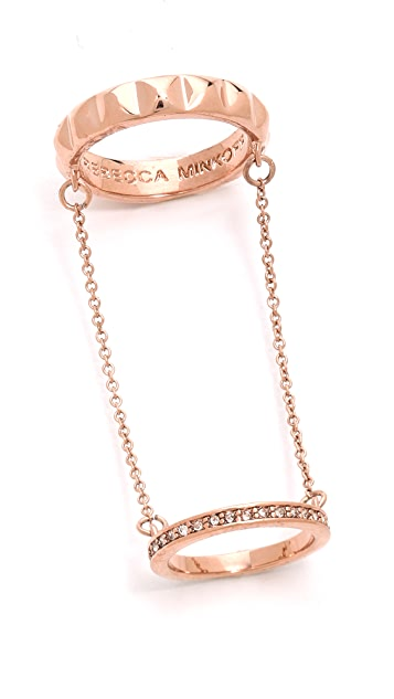 Rebecca Minkoff Studded Chain Ring