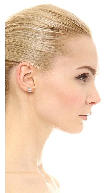 Rebecca Minkoff Pave Rectangle Stud Earrings