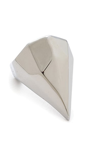 Rebecca Minkoff Faceted Metal Ring