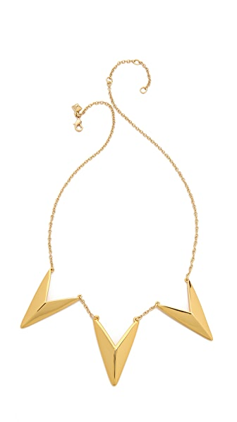 Rebecca Minkoff Triple V Necklace