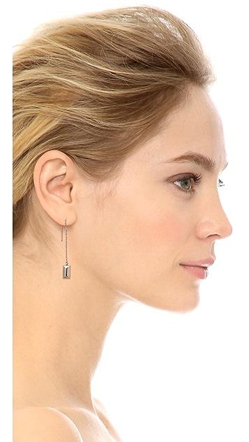 Rebecca Minkoff Rectangle Metal Stud Threader Earrings