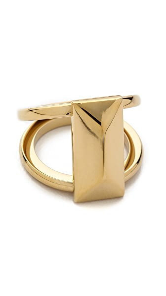 Rebecca Minkoff Rectangle Metal Stud Ring