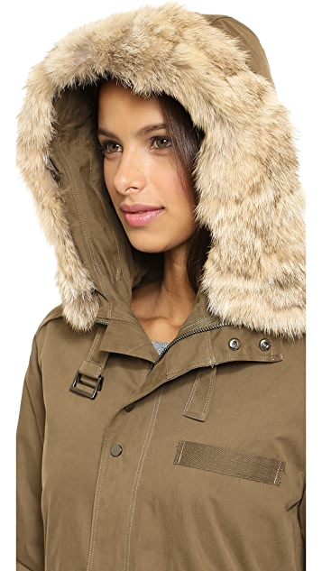 Rebecca Minkoff Morris Parka with Fur Collar