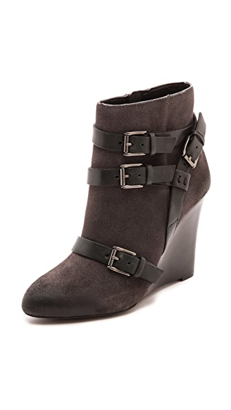Rebecca Minkoff Maggie Wedge Buckle Booties