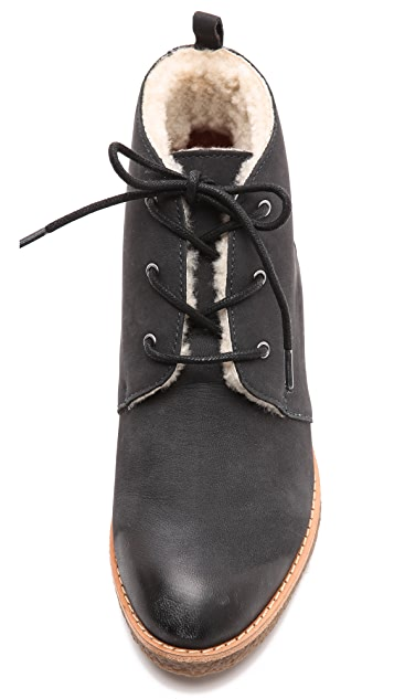 Rebecca Minkoff Persys Shearling Lace Up Booties