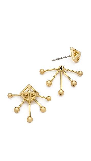 Rebecca Minkoff Pyramid Fan Stud Earrings