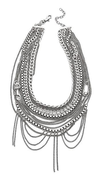 Rebecca Minkoff Hex Chain Statement Necklace