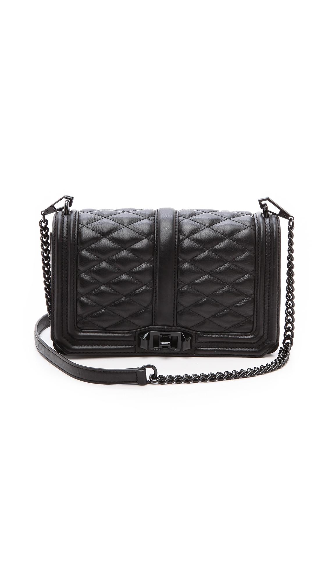 9cdb9a48543de3 Rebecca Minkoff Love Quilted Crossbody Bag Black | Stanford Center ...