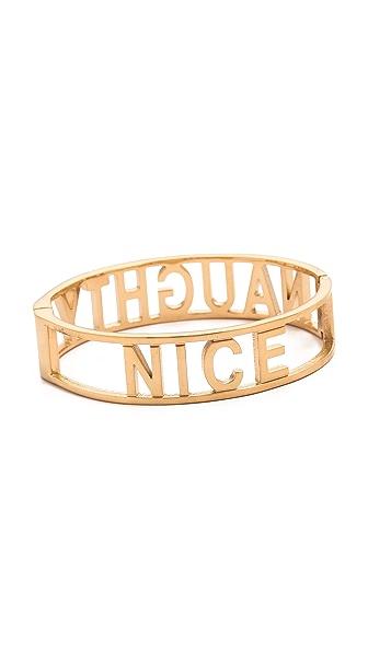 Rebecca Minkoff Naughty / Nice Hinge Bangle Bracelet