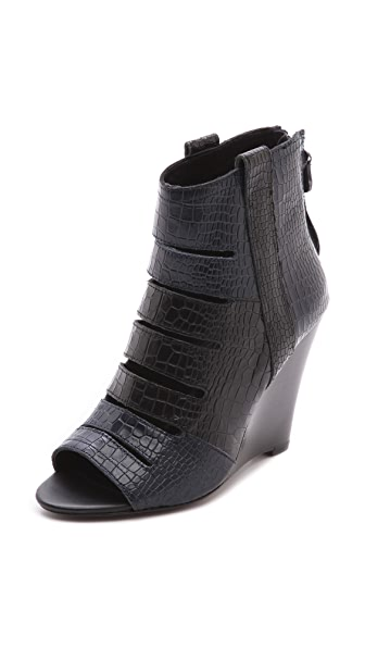 Rebecca Minkoff Sonny Peep Toe Wedge Booties