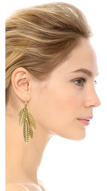 Rebecca Minkoff Safari Haze Leaf Chandelier Earrings