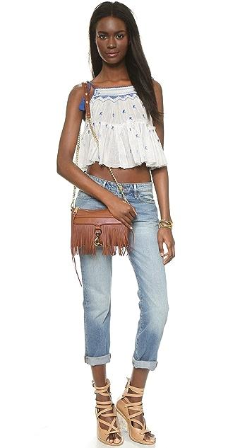 Rebecca Minkoff Mini MAC Cross Body Bag with Fringe