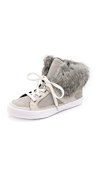Rebecca Minkoff Shiloh Fur High Top Sneakers