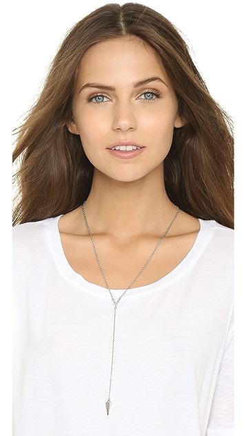 Rebecca Minkoff Crystal Cone Y Necklace