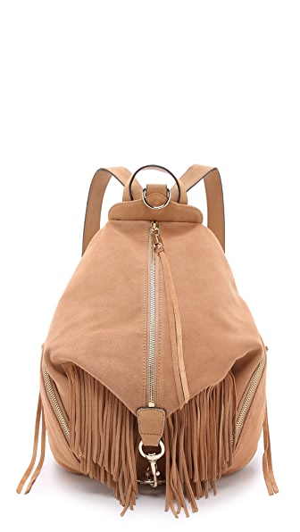 Rebecca Minkoff Suede Fringe Julian Backpack