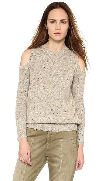 Rebecca Minkoff Page Cold Shoulder Sweater In Oatcake